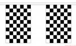 BLACK & WHITE CHECKERED - 18 METRE BUNTING